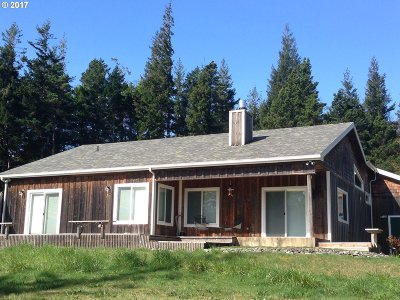 Port Orford Single Family Home For Sale: 41925 N Fork Hubbard Ck Rd
