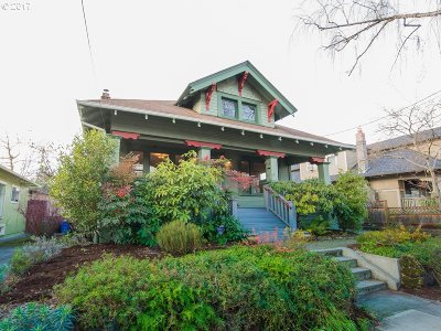 Portland Single Family Home For Sale: 1547 SE 47th Ave