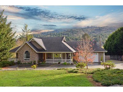 Brookings Single Family Home For Sale: 346 Winchuck River Rd