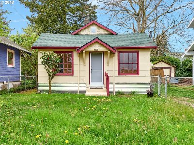 Portland OR Single Family Home Pending: $275,000