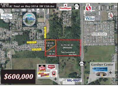 Battle Ground Residential Lots & Land For Sale: SW 15th Ave