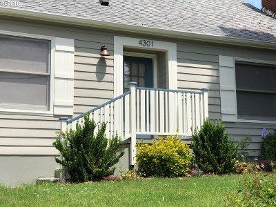 Single Family Home For Sale: 4301 SE Nehalem St