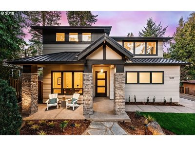 Lake Oswego Single Family Home For Sale: 937 F Ave