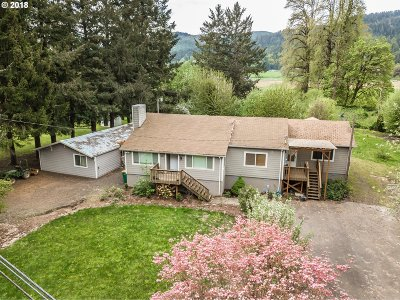 Forest Grove Single Family Home For Sale: 3123 NW Gales Creek Rd