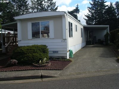 Eugene Single Family Home For Sale: 1199 N Terry St Space 260
