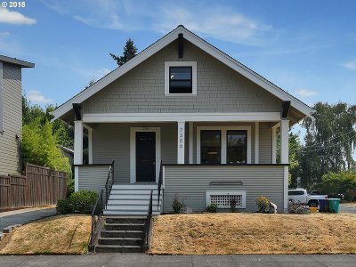 Portland Single Family Home For Sale: 7306 N Olin Ave