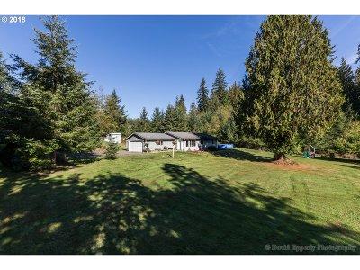 Rainier Single Family Home For Sale: 74387 Elk Creek Rd
