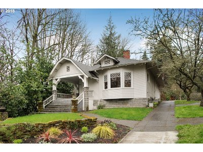 Portland Single Family Home For Sale: 3044 NW Thurman St