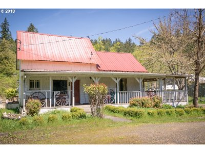 Mill City Single Family Home Sold: 28399 N Santiam Hwy SE