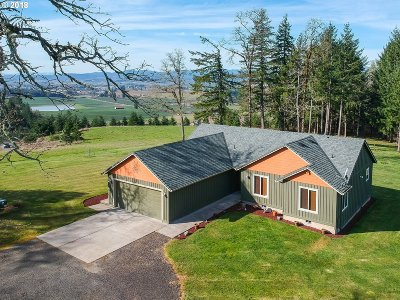Yamhill Single Family Home For Sale: 8775 NE Sunset Knoll Rd