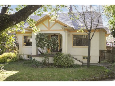 Portland Single Family Home For Sale: 1817 SE Mulberry Ave