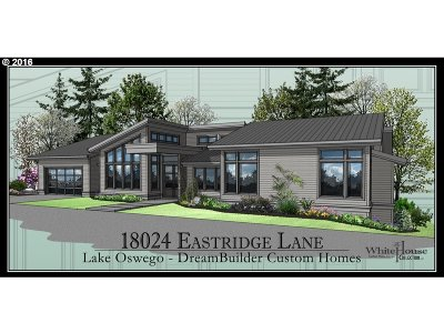 Lake Oswego Single Family Home For Sale: 18024 Eastridge Ln