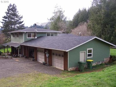 Single Family Home For Sale: 6525 North Fork Siuslaw Rd