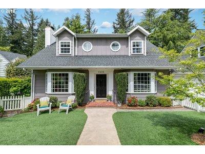 Single Family Home For Sale: 6408 SW Burlingame Pl