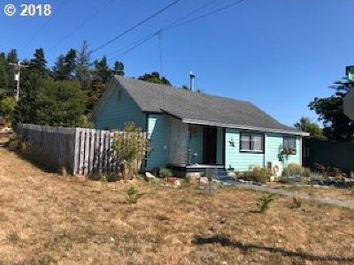 Port Orford Single Family Home For Sale: 1036 Washington St