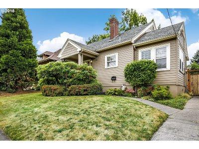 Portland Single Family Home For Sale: 5343 NE 33rd Ave