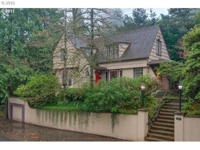 Multnomah County Single Family Home For Sale: 2840 SW Talbot Rd