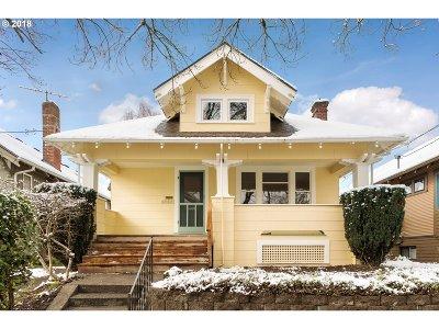 Portland Single Family Home For Sale: 1727 SE 41st Ave