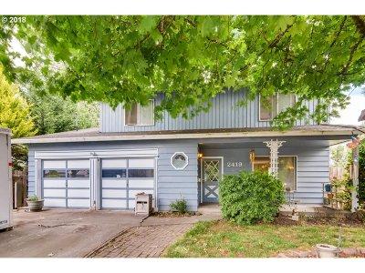 Forest Grove Single Family Home For Sale: 2419 Cedar St