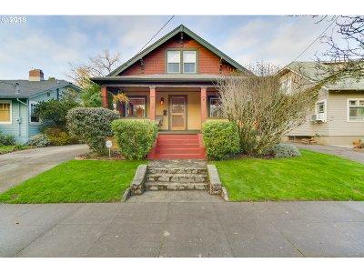 Single Family Home For Sale: 1005 SE Nehalem St