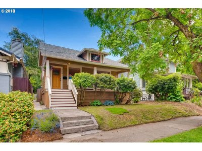 Portland Single Family Home For Sale: 3408 SE 28th Ave