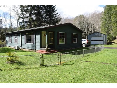 Coquille Single Family Home For Sale: 56793 Fairview Rd