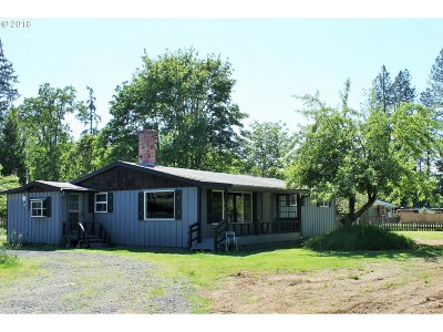 Veneta Single Family Home For Sale: 25550 E Bolton Rd