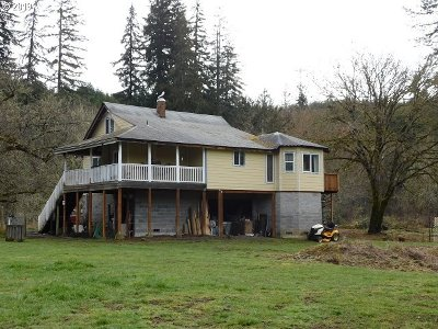 Vernonia Single Family Home For Sale: 58991 Lone Pine Rd