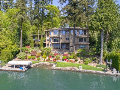 Lake Oswego Single Family Home For Sale: 3012 Lakeview Blvd