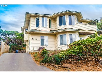 Lincoln City Single Family Home For Sale: 5520 NW Jetty Ave
