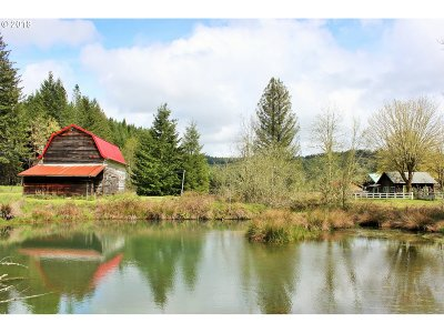 Lorane Single Family Home For Sale: 26438 Siuslaw River Rd