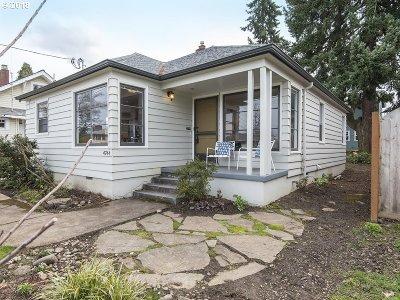 Single Family Home For Sale: 4744 NE Mason St #A