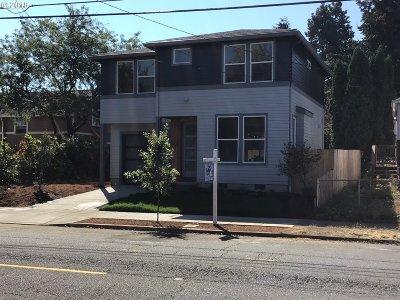 Multnomah County Single Family Home For Sale: 4826 N Willis