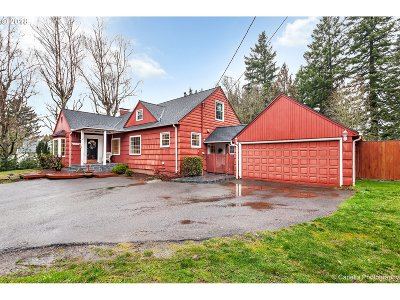 Portland Single Family Home For Sale: 10475 NW Cornell Rd