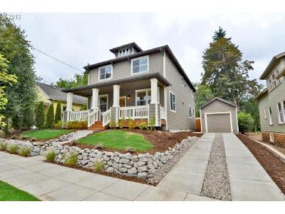 Milwaukie Single Family Home For Sale: 19490 SE Towery St #LOT1