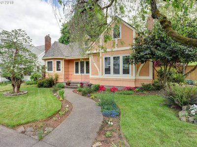 Portland Single Family Home For Sale: 4306 NE 41st Ave