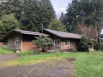 Port Orford Single Family Home For Sale: 42034 Old Mill Rd