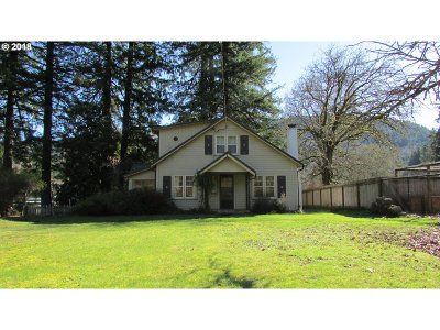 Springfield Single Family Home For Sale: 42400 McKenzie Hwy