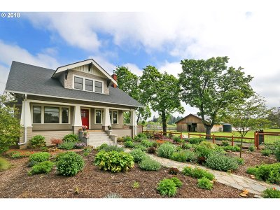 Junction City Single Family Home For Sale: 27461 Fruitway Rd
