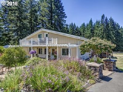 Single Family Home For Sale: 20419 SW Scholls Sherwood Rd
