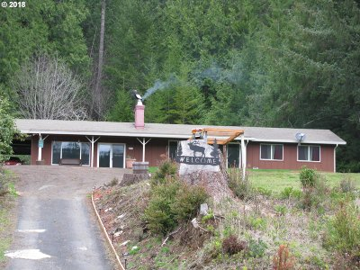 Florence Single Family Home Pending: 6781 North Fork Siuslaw Rd