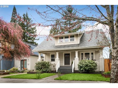 Portland Single Family Home For Sale: 4012 SE 47th Ave