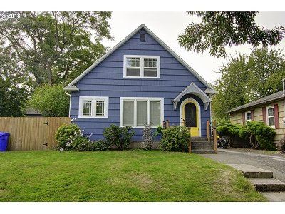 Multnomah County Single Family Home For Sale: 3136 N Watts St