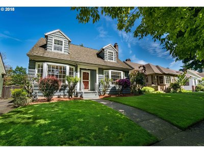 Clackamas County, Multnomah County, Washington County Single Family Home For Sale: 7338 N Fowler Ave