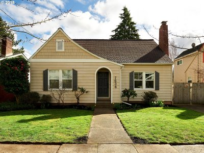 Portland Single Family Home For Sale: 7634 SE 20th Ave