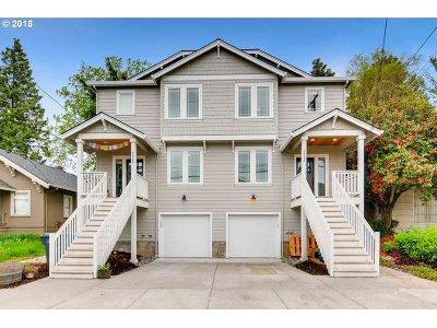 Clackamas County, Multnomah County, Washington County Multi Family Home For Sale: 2022 SE Harold St
