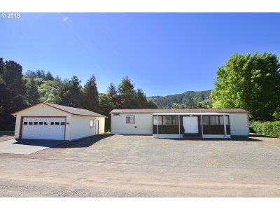 Brookings Single Family Home For Sale: 98424 N Bank Chetco Rd