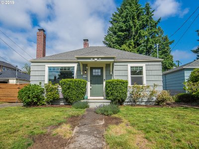 Portland Single Family Home For Sale: 7627 N Berkeley Ave