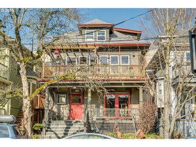 Portland Single Family Home For Sale: 1631 NW Johnson St