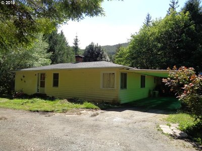 Coquille Single Family Home For Sale: 54167 Lampa Crk Rd